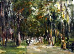 Max Liebermann - Allee in Tiergarten circa 1925