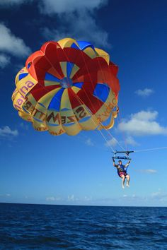 Parasailing is one of the many fabulous excursions available while cruising with #PrincessCruises #Travel and have fun with adventure and then head back to the ship for dining and entertainment to relax :)