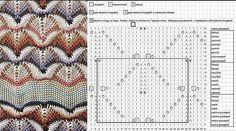 Узор «волна» спицами: схемы и подробное описание
