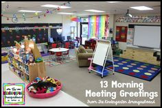 13 morning meeting greetings.  Movement and academics in morning meeting.  Kindergarten morning meeting.