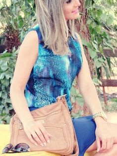 Tallita Martins | Look azul