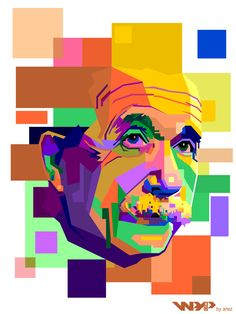 Einstein WPAP (Wedha's Pop Art Potrait)