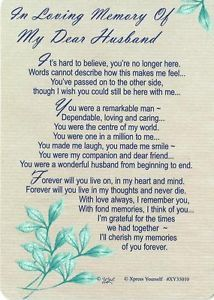 in memory husband birthday | ... Husband Grave Card -Bereavement/ Memoriam/ Memory/ Memorial/ Birthday