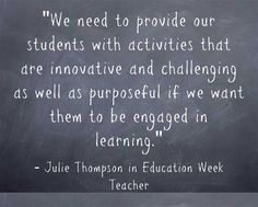 Julie Thompson, Myron Dueck, Bryan Harris, and Debbie Silver share practical suggestions on increasing student engagement in my latest Education Week column.  This is the first post in a four-part series.