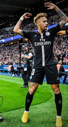 Neymar celebrates a goal for PSG Brazil Football Team, Neymar Football, Madrid Football, Best Football Players, Nike Football, Soccer Players, Cr7 Messi, Neymar Psg, Ronaldo Juventus