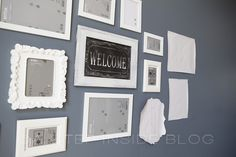 Picture Collage Wall in Front Sitting Room | A Step Inside