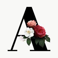 Alphabet A, Fonte Alphabet, Alphabet Letters Design, Letter Art, Flower Alphabet, Monogram Wallpaper, Alphabet Wallpaper, Floral Letters, Monogram Letters