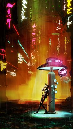 Cyberpunk, Neo-Noir (*Switch Aether to Energy and darken the whole thing. Perfect Grid street)