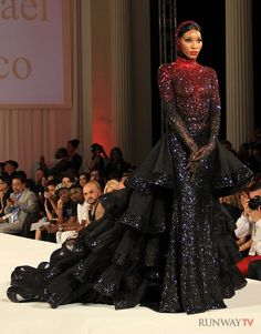Michael Cinco - Without the ruffles, for baddies? To show they are in the darkness, like the darkness of space?