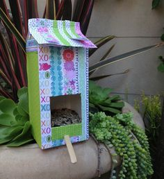 Summer Crafting Day 6 - Milk Carton Bird Feeder — me & my BIG ideas, kid craft