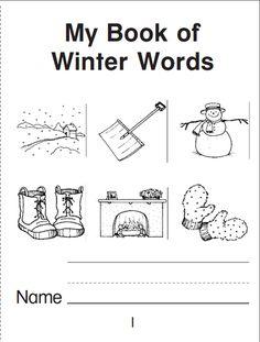 Grundschule Englisch: Mini book of winter words