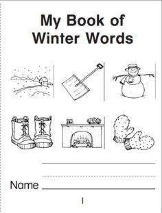 Your child will warm up to this reading and writing mini book that explores the world of winter words.