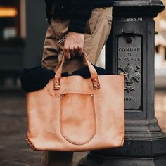 Maxpoglia leather tote