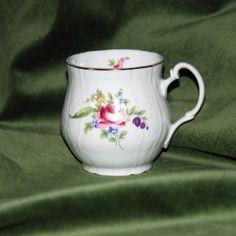 Hrnek Jonáš 0,33 l, Thun 1794, karlovarský porcelán, BERNADOTTE růže + zlato
