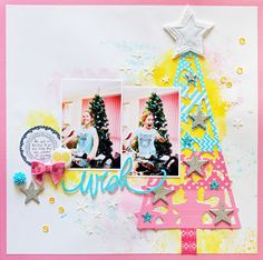 Wish | Off the Rails Design Team Layout | D-lish Scraps and Charms Creations embellishments | The Cut Shoppe cut file
