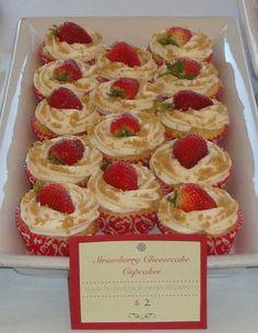 Sarah's Kitchen: Strawberry Cheesecake Cupcakes