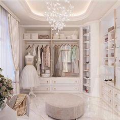 Walk In Closet Design, Bedroom Closet Design, Closet Designs, Bedroom Decor, Dream Closets, Dream Rooms, Wardrobe Room, Dressing Room Design, Dressing Rooms