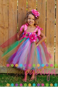 Somewhere over the Rainbow Candyland Tutu Dress