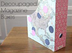 Decoupaged Magazine Boxes