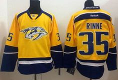 502bff2a0 Nashville Predators Pekka Rinne Yellow Home Stitched NHL Jersey