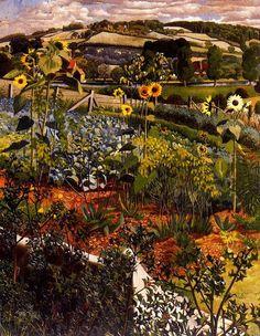 Sir Stanley Spencer(1891ー1959 an English painter)「Rowborough. Cookham」(1934)