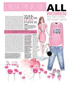 """""""brest cancer awareness"""" by lyudmyla ❤ liked on Polyvore featuring мода, Markus Lupfer, GE, Wet Seal, Alexander Wang и 3.1 Phillip Lim"""