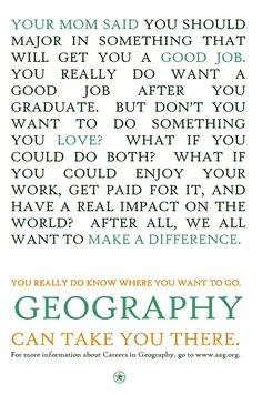 Geography Can Take You There