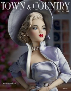 """JAMIEshow Gene Marshall ~ """"Hollywood Canteen"""" ~ in Matisse fashion and wig by Ilaria ~ Image and styling by Tom Logan, The Studio Commissary/kw"""