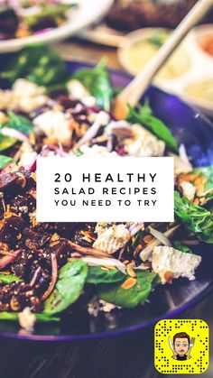 Go ahead and take a look - all 20 salad recipes are munchy, crunchy, and scrumptious. Need something sweet? Got it. Something savory? Got that too! Enjoy...