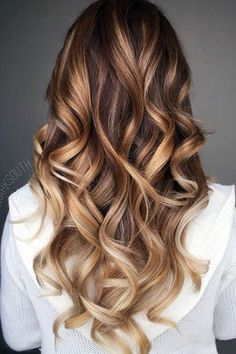 18 Brown to Blonde Ombre Long Hairstyles ♡