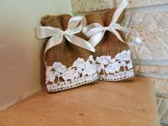Set of 10  Wedding Favor Bags by MadeInBurlap on Etsy