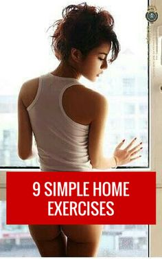 9 simple exercises you can do in the comfort of your own home. #fitness #workout #exercise #health