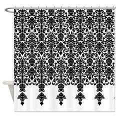 Black Damask Shower Curtain on CafePress.com