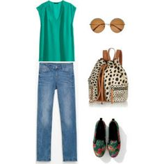 Blouses H&M Jeans, shoes Zara Bag, sunglases River Island