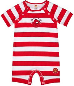 e8eb7163a Manchester United Baby Striped Romper - 0-18 months £11.99