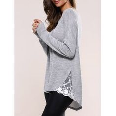 SHARE & Get it FREE | Lace Splicing Asymmetric KnitwearFor Fashion Lovers only:80,000+ Items • FREE SHIPPING Join Nastydress: Get YOUR $50 NOW!
