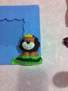 Portafoto in feltro con animali in pannolenci
