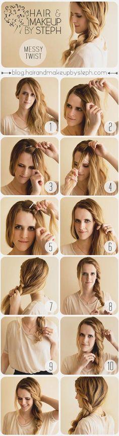 Loose Braided Hairstyle #hair #hairstyle #womentriangle #christmas #braid