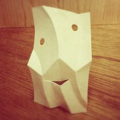 paper mask from one card.