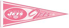 New York Jets Pennant - Pink