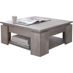 Table basse carrée SEGURO L80x80cm