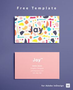 Free Terrazzo Business Card Template Design - Download Free!