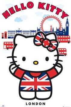 Poster Hello Kitty London Maxi Gbeye | eBay