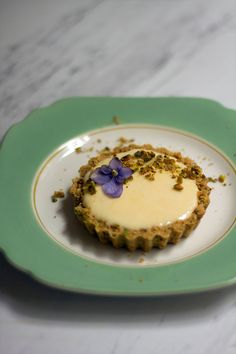Lemon Icebox Tarts with Pistachio Crust Recipe   No bake Dessert