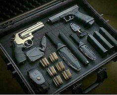 S&W 656 & Glock 17 with threaded barrel
