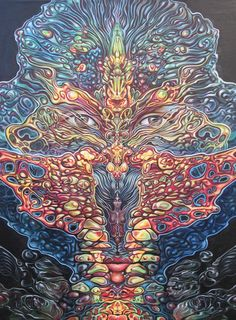 """The moment you realize you are not present, you are present."" Eckhart Tolle❤️☀️ Art by Amanda Sage Acid Art, Psy Art, Mystique, Visionary Art, Psychedelic Art, Sacred Geometry, Traditional Art, Cool Art, Awakening"