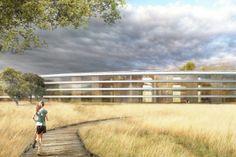 Veduta laterale dell'Apple Space Campus a #Cupertino, futuro headquarter della multinazionale americana. #Apple