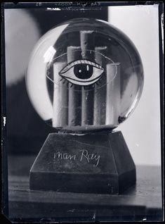 Man Ray - Boule de neige. (Man Ray was Famous for Photographing the Movie Stars)