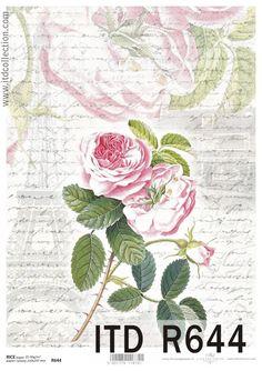 Ryžový papier na decoupage ITD-R644