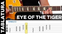 Como tocar EYE OF THE TIGER / ROCKY en guitarra eléctrica con tabs